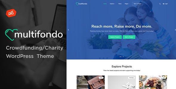 Multifondo - Crowdfunding & Charity WordPress Theme