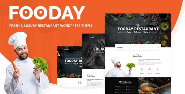 Fooday - Fresh & Luxury Restaurant, Coffee WordPress Theme