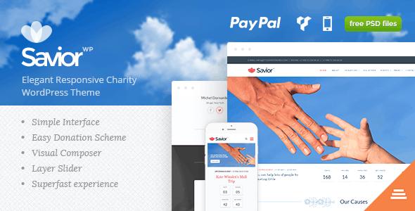 Savior - Charity & Donations WordPress Theme