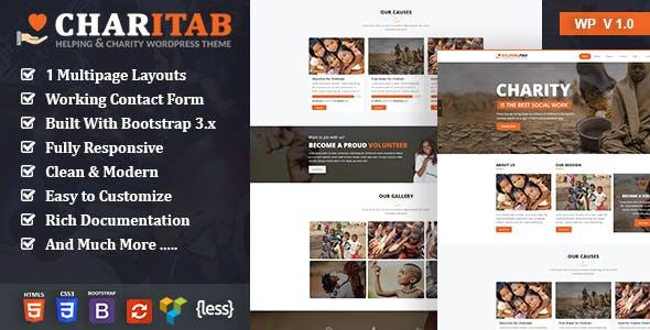 Charitab - Crowdfunding Charity WordPress Theme