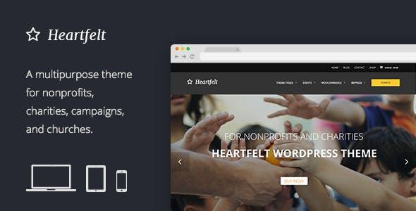 Heartfelt: Humanitarian Responsive WordPress Theme