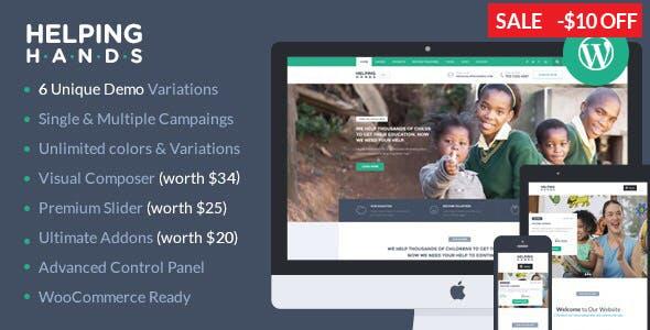 HelpingHands - Charity, Fundraising, Church, NGO, Non Profit WordPress Theme