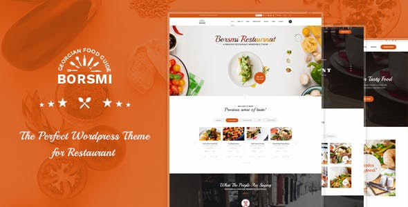 Borsmi - Pro WordPress Restaurant Theme