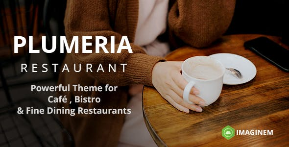 Plumeria Restaurant and Cafe Theme for WordPress