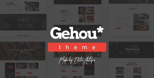 Gehou - A Modern Restaurant & Cafe Theme