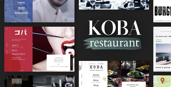KOBA - A Delicious Restaurant WordPress Theme