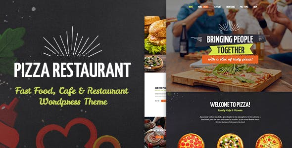 Pizza Restaurant - Fast Food, Cafe & Restaurant WordPress Theme