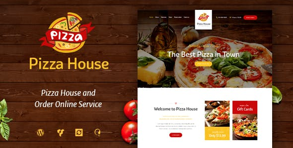 Pizza House - Restaurant / Cafe / Bistro Theme