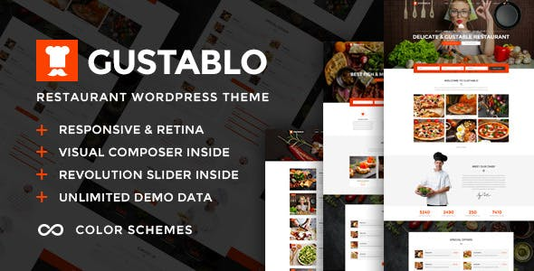 Gustablo | Restaurant & Cafe Responsive WordPress Theme
