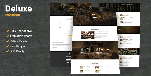 Deluxe Restaurant WordPress Theme
