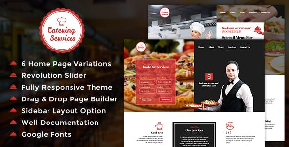 Chef - Restaurant - Catering WordPress Theme