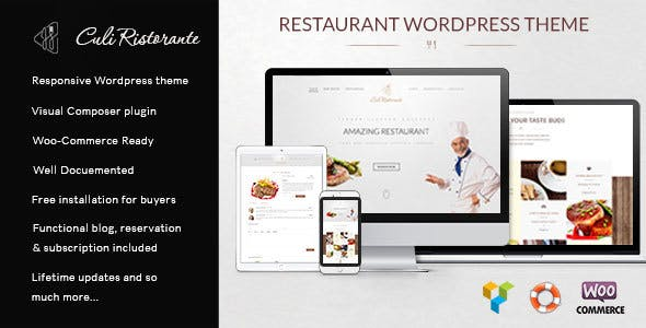 Culi Ristorante - Restaurant WordPress Theme