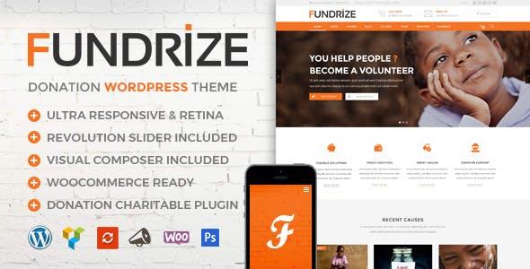 Fundrize | Responsive Donation & Charity WordPress Theme
