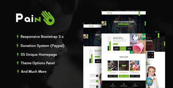 Pain - Charity & Fundraise Non-profit WordPress Theme