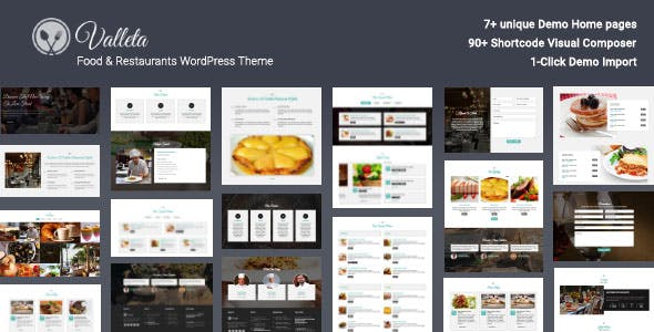 Valleta - Food & Restaurants WordPress Theme
