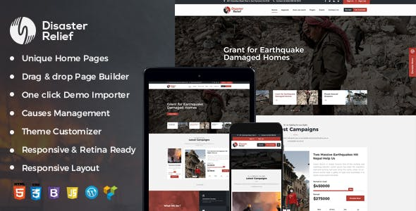 Disaster Relief A Charity WordPress Theme With Fund Raising and Events