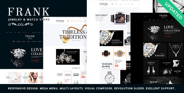 Jewelry & Watches Online Store WordPress Theme