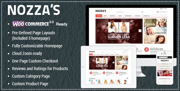 WooCommerce WordPress Theme - FashionZozza