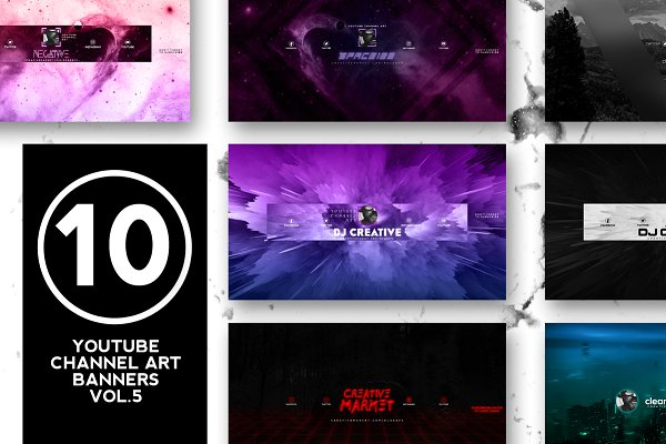 10 Youtube Channel Art Banners vol.5