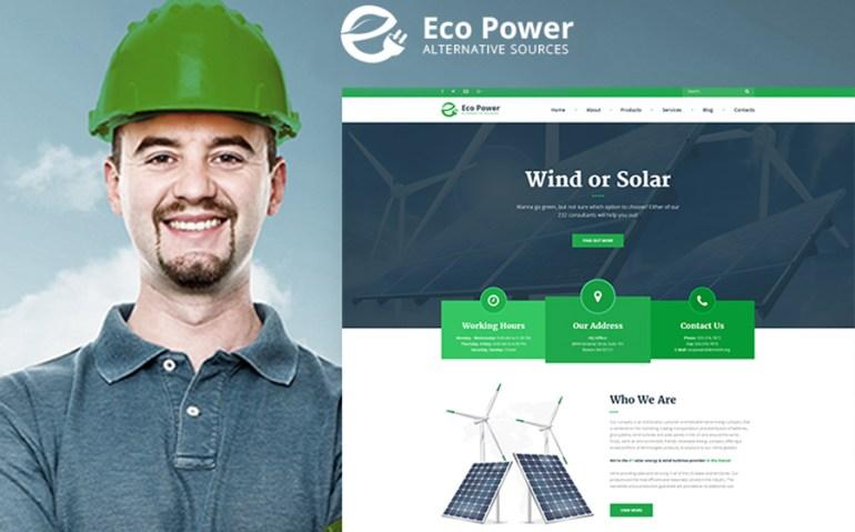 EcoPower - Alternative Power & Solar Energy WordPress Theme