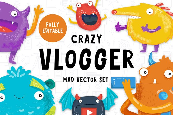 The Crazy Vlogger - YouTube set