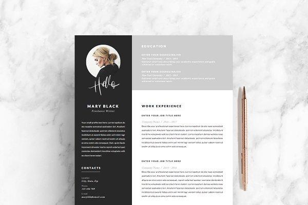 5 page Resume Template | Blackie