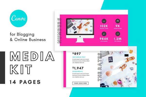 Media Kit/Proposal for Bloggers