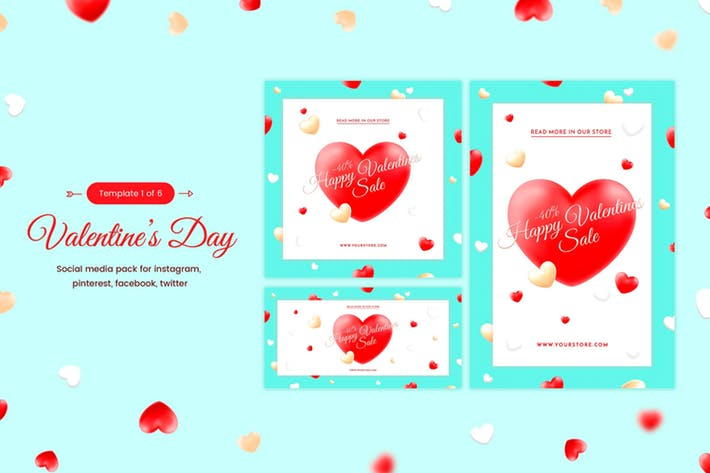 Valentine's Day Social template