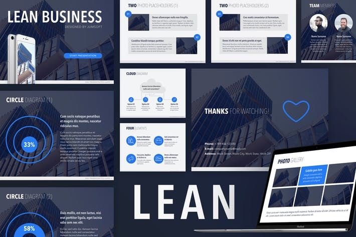 Lean PowerPoint Template