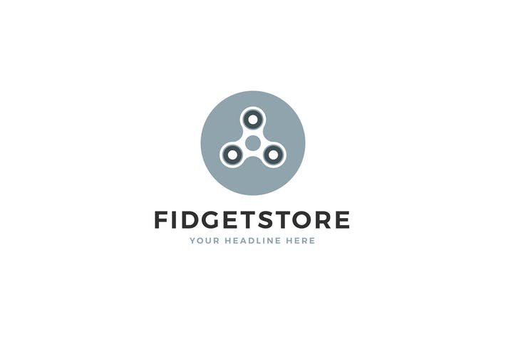 Fidget Store Logo Template