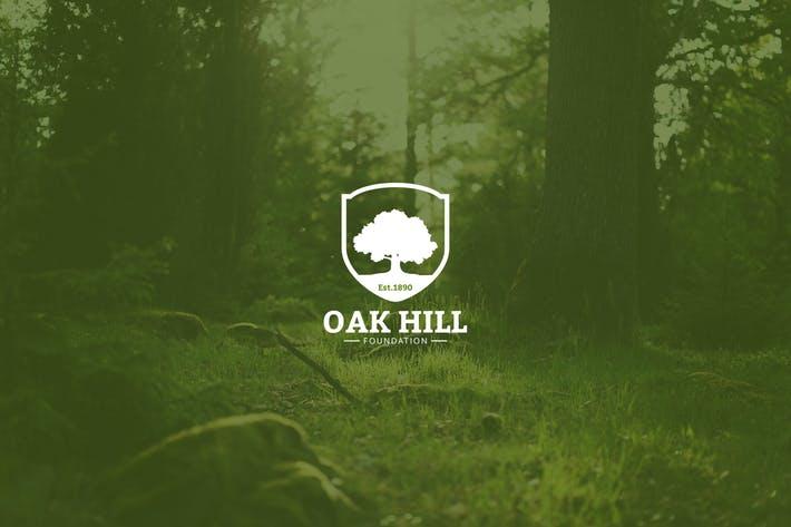 Vintage Oak Tree Logo