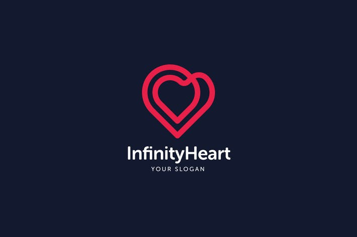 Infinity Heart Logo Template