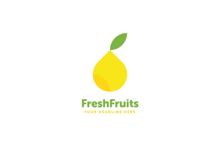 Fresh Fruits Logo Template