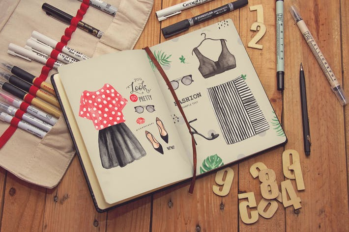 Journal Diary Notebook Sketch