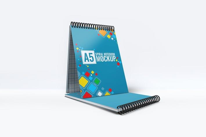 A5 Spiral Notebook Mock-Up