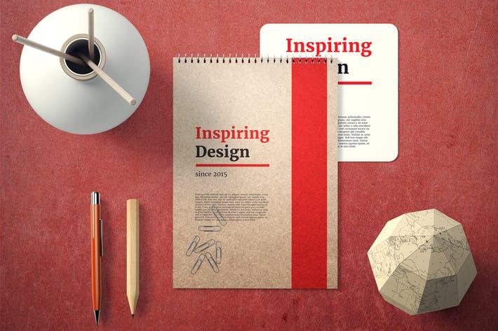 Notebook Cover Mock-Up Set