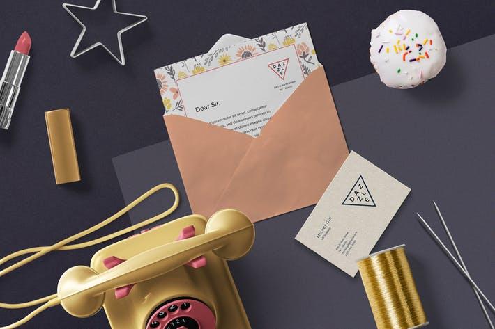 Greeting Card & Envelope Mockups