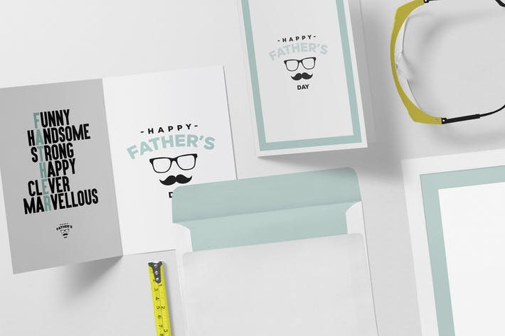 Greeting Card Mockup Scenes