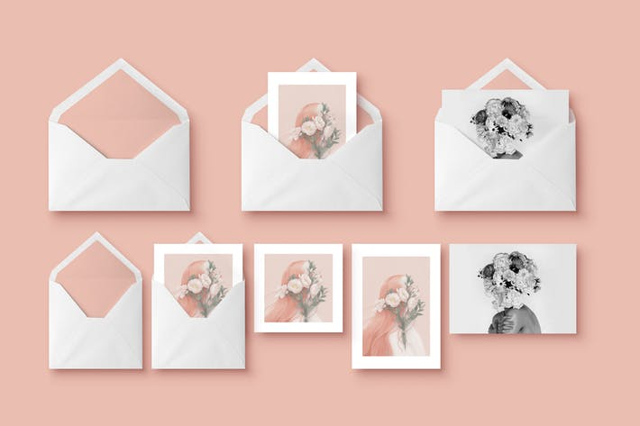 Mockup - Greeting Cards & Envelope