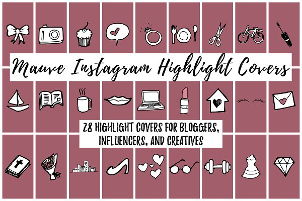 28 Mauve Instagram Highlight Covers