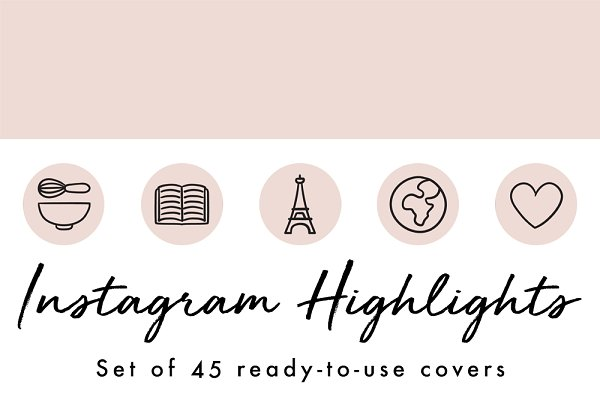 45 Instagram Story Highlight Icons