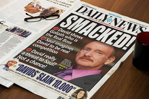 Editable Tabloid Newspaper Cover