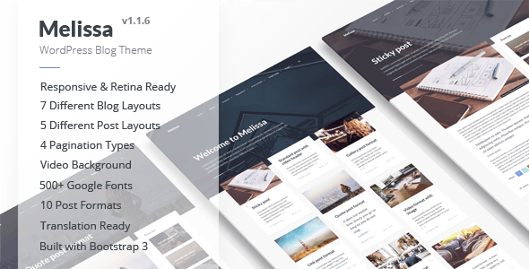 Melissa - Personal Blog/Magazine WordPress Theme