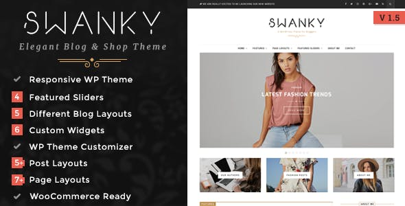 Swanky - A Responsive WordPress Blog & Shop Theme
