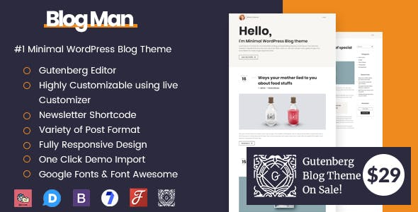 Blogman - Minimal WordPress Blog Theme