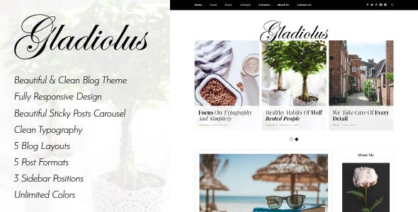 Gladiolus - A Responsive WordPress Blog Theme