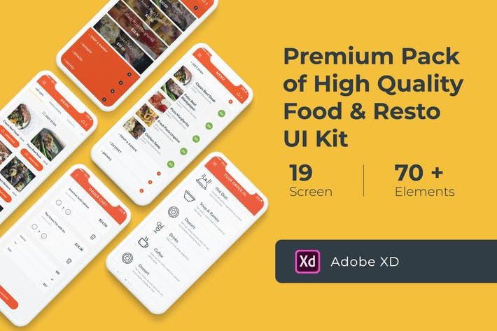 Food and Resto UI KIT for XD