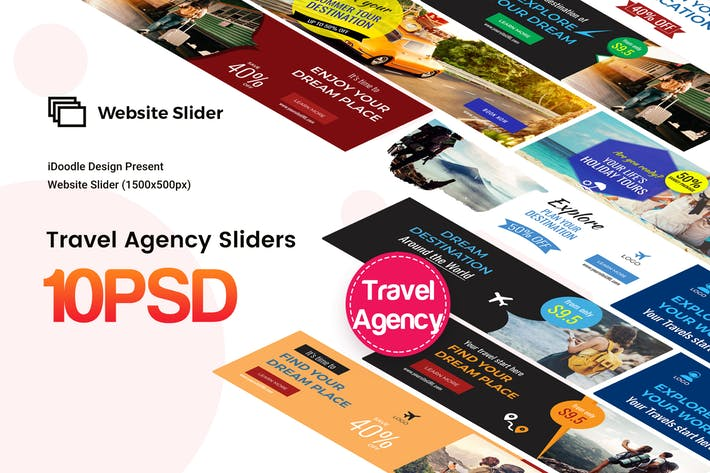 Travel Agency Website Sliders