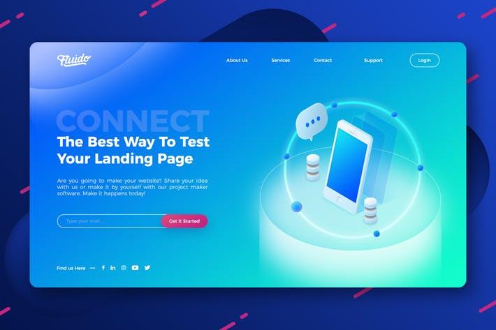 Technology website hero header template