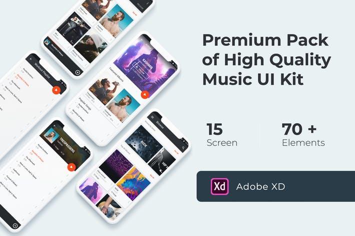 Music Multimedia UI KIT for XD